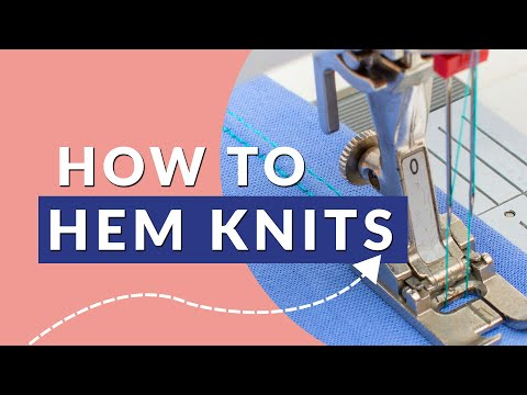 How to hem knits on a regular sewing machine