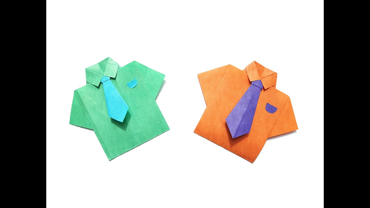 how to make a paper shirt and tie easy origami youtube