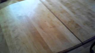 Refinished Table. Natural Wood Finish.