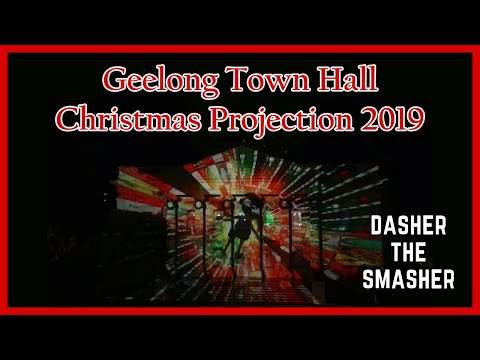 GEELONG TOWN HALL CHRISTMAS PROJECTION 2019