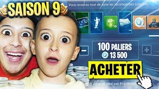 ON ACHÈTE TOUT LE PASS DE COMBAT SAISON 9 SUR FORTNITE BATTLE ROYALE !