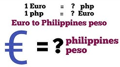 Euro to php I euro to philippines peso exchange rate today | euro to php