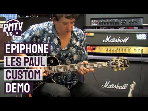 Epiphone Les Paul Custom Demo - Tony Farinha @ PMT Portsmouth