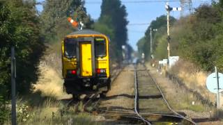 Northern Rail's 153328 works the Cleethorpes-Barton service and return at Ulceby,6-10-2012 (HD).
