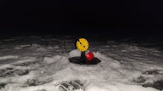 Ставим жерлицы по темноте Щука не дает скучать Зимняя рыбалка