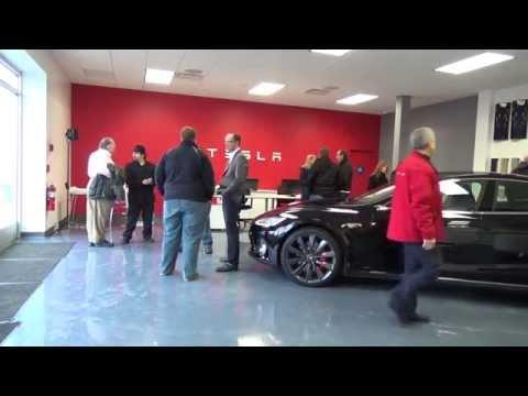 Tesla Motors Model S / X: Highland Park Service, Sales & Supercharger Grand Opening