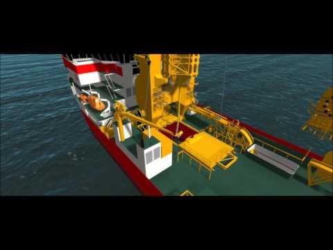 IHC training simulator pipe lay vessels