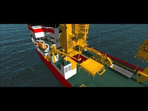 IHC training simulator pipe lay vessels