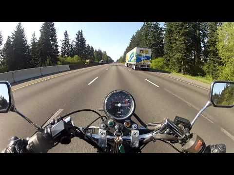 Honda Rebel going 85mph!
