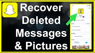 How To RECOVER Deleted Snapchat Memories, Messages, Stories & Pictures!