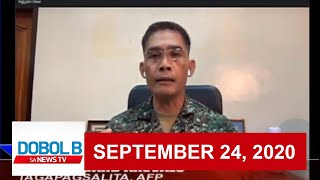 Dobol B Sa News TV Livestream | September 24, 2020  (Part 2) | Replay