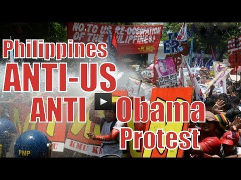 Philippines: ANTI-US, Anti-Obama Protest    THE REOCCUPATION OF THE PHILIPPINES   Manila