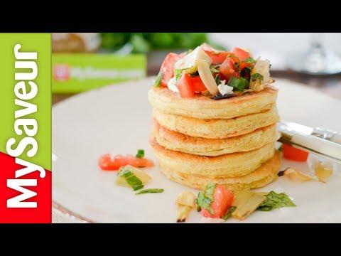 pancake-aux-tomates-séchées-&-sa-salade-d'artichauts-à-l'italienne