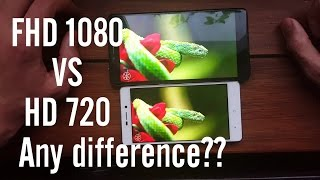 FHD vs HD resolution/Can you see the difference?(720p/1080p/screen/5inch/5.5inch/smartphones)