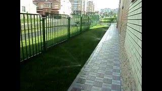автоматический полив газона(Монтаж системы полива, компинией