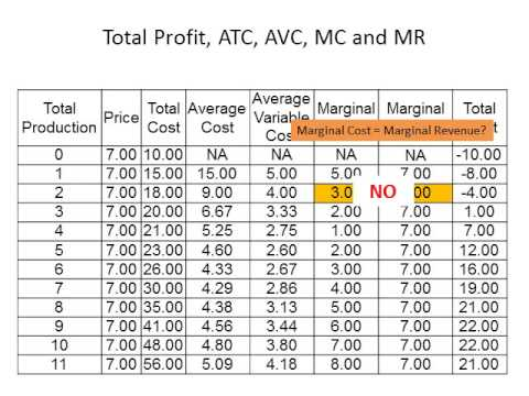 profit maximization rule in the short run