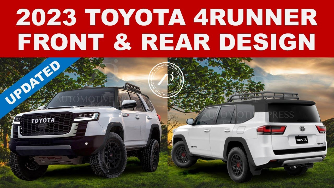 UPDATED 2023 TOYOTA 4RUNNER RENDERINGS BY ENGINEER - Now Both Front & Rear Images Completed!