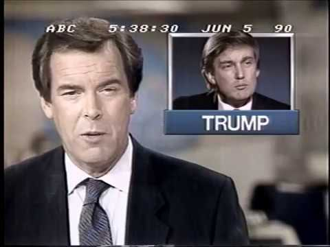 Allan Dodds Frank reporting on Donald Trump's finances on ABC World News Tonight in 1990