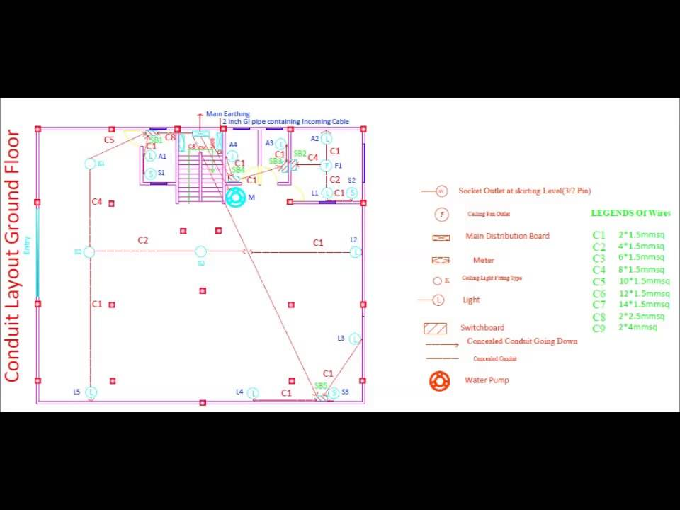 Electrical wiring using autocad youtube electrical wiring using autocad cheapraybanclubmaster Images