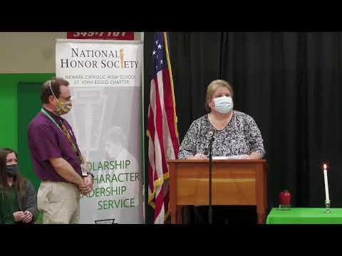 Newark Catholic High School 11-24-2020 National Honors Society Induction