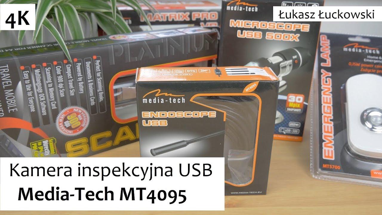 Tylko na zewnątrz Endoskop, Kamera inspekcyjna USB do SMARTFONA Media-Tech MT4095 CP04