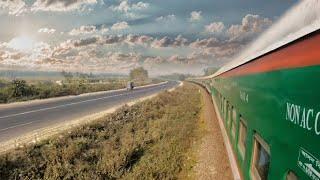 Dhumketu Express On board Journey  Bangladesh railway Dhaka Rajshahi Train || 4k