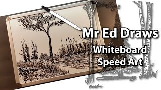 Dry Erase Whiteboard Art - How To Draw Plants and Trees - Mr Ed Draws