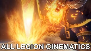 WoW Legion All Cinematics in Chronological Order + Ending (World of Warcraft Legion All Cutscenes)