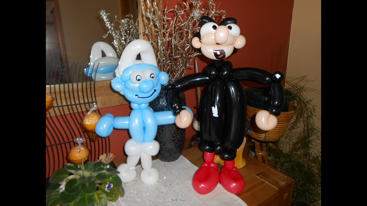 sculpture sur ballon n 46 le schtroumpf smurf balloon tutorial pitufo globo youtube. Black Bedroom Furniture Sets. Home Design Ideas