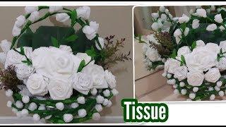 Cara membuat bunga tissue gulung   DIY Amazing beautiful flowers tissue paper