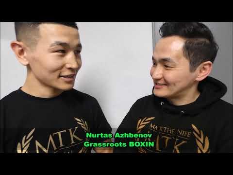 KAZAKH BOXER NURTAS AZHBENOV POST FIGHT INTERVIEW & MESSAGE TO KAZAKHSTAN FANS