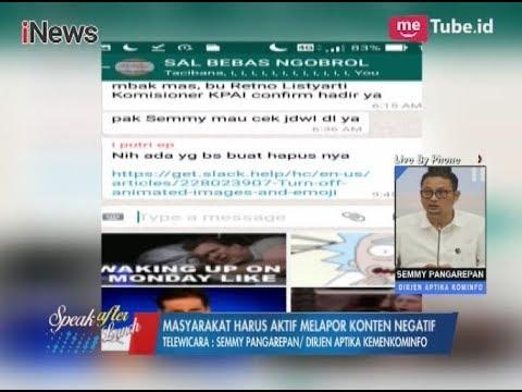 Kemenkominfo: Developer WhatsApp Harus Sediakan Konten Khusus Untuk Indonesia Part 03 - SAL 06/11