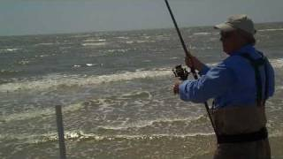 SURF FISHING GALVESTON BEACH FRONT HD