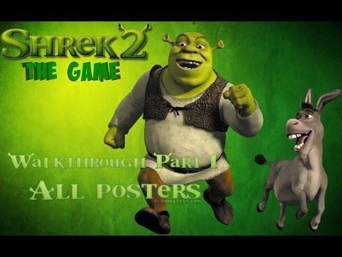 Shrek 2: The game 100% Walkthrough (All posters) Part 1