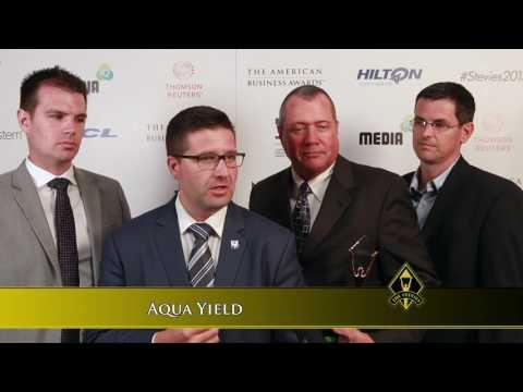 Aqua Yield Wins Stevie Award in 2017 American Business Awards