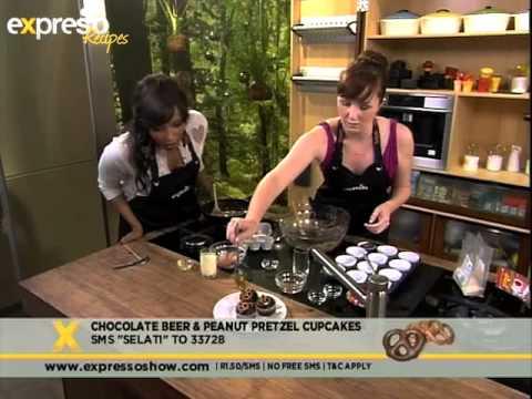 Selati: Chocolate beer and peanut pretzel cupcakes(1.11.2012)