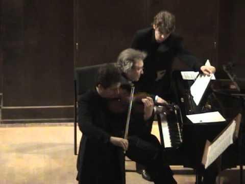 Pavel Berman / Mikhail Voskresensky - Brahms Adagio from Violin sonata No.3