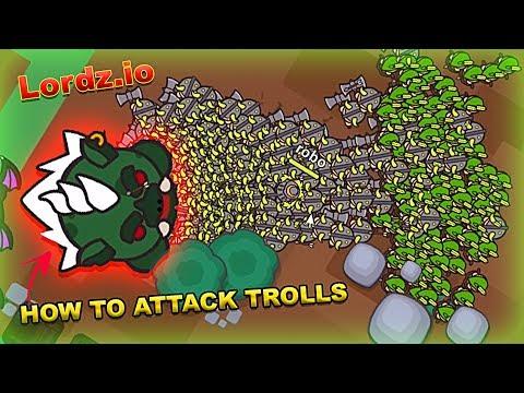 Lordz.io BEST STRATEGY TO ATTACK GIANT TROLLS in LORDZIO