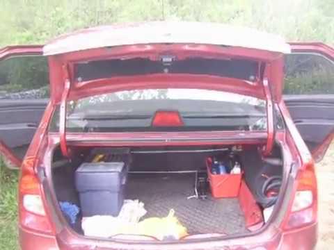 Складывающаяся спинка заднего сиденья Renault Logan 1 поколение