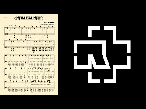 [11] Rammstein - HALLELUJAH Piano Solo Arrangement with Lyrics + Sheet Download