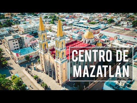 El centro de Mazatlán Sinaloa, la catedral basílica, plazuela machado y el rincón de Pedro Infante