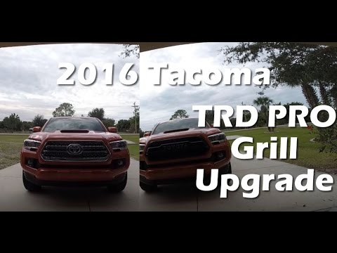2016 toyota tacoma trd pro grille install youtube. Black Bedroom Furniture Sets. Home Design Ideas