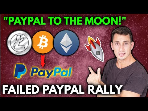HUGE CRYPTO NEWS!! NO RALLY?! Why Didn't Litecoin, Ethereum and Bitcoin Surge on PayPal Crypto News?