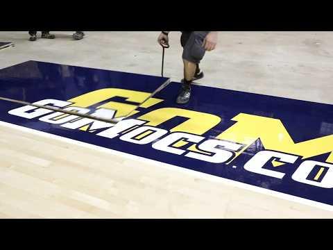 New Basketball Floor Install at McKenzie Arena