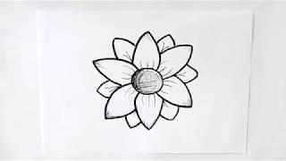 Cómo dibujar una Flor de Primavera Dibuja Conmigo Dibujos de Flores
