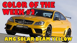 AMG Mercedes Solarbeam Yellow, color of the week #2