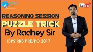 IBPS RRB PRE/PO | Puzzle Tricks By Radhey Sir | Reasoning |  Online Coaching for SBI IBPS Bank PO