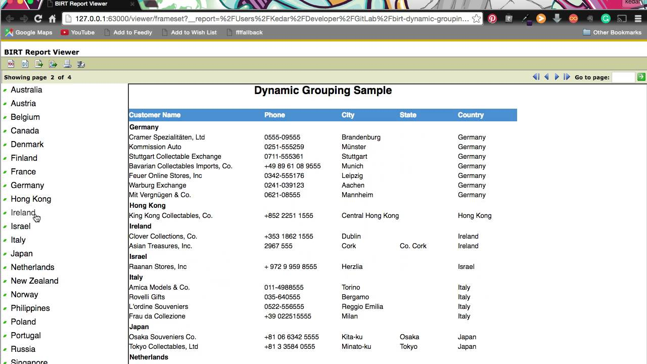 Dynamic Grouping in BIRT