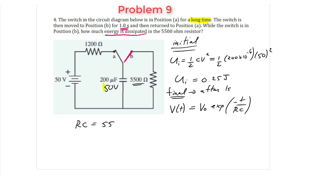 Rc Circuits History Best Secret Wiring Diagram Current Divider Rule Explanation With Circuit Example Youtube Problem 9 Energy Dissipated During Discharge Rh Com Examples
