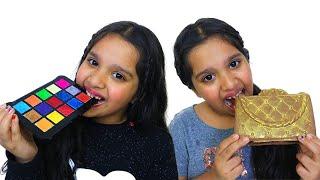 बच्चों के लिए खिलौने आइसक्रीम चॉकलेट के साथ खेलते हैं